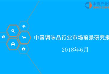 2018年中国调味品行业市场前景研究报告(附全文)