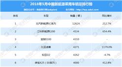 2018年5月中国新能源乘用车销量排行榜