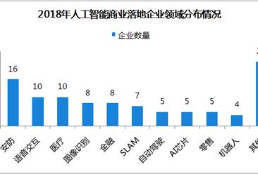 2018年中国人工智能商业落地排行榜TOP100:安防领域企业16家(附榜单)