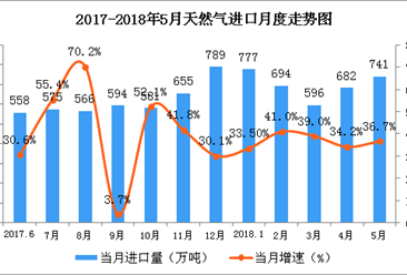 2018年5月国能源生产情况分析:原油进口增速回落(图)