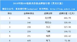 2018中国500最具价值品牌排行榜(黑龙江篇):北大荒等6大品牌上榜