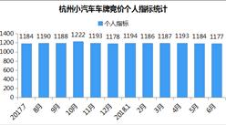 2018年6月杭州小汽车车牌竞价数据分析(图表)