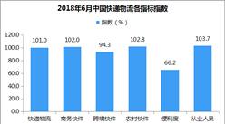2018年6月中國快遞物流指數101%:跨境快件業務增速放緩(附解讀)
