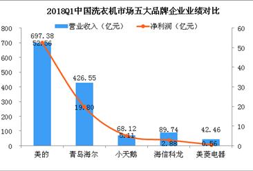 2018中国五大洗衣机品牌企业实力比拼:美的/海尔/小天鹅/海信/美菱(附图)
