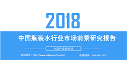 2018年中国瓶装水行业市场前景研究报告(附全文)