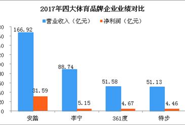 国内四大梦之城国际网址娱乐运动品牌企业实力大PK:安踏遥遥领先  361°首次超越特步(图)