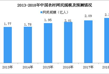 2018年中国农村网民市场规模预测:市场规模将达2.21亿人(图)