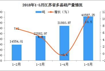 2018年1-5月江苏省多晶硅产量分析:后市可期
