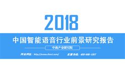 2018年中国智能语音行业前景研究报告