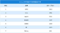 2018上半年中国各品牌智能手机销量排行榜