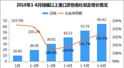 2018年1-6月港口貨物吞吐量達65.42億噸 為去年同期102.4%