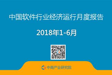 2018上半年中国软件行业梦之城娱乐下载地址运行情况月度报告