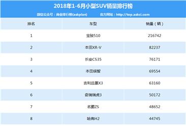 2018年1-6月中国小型SUV销量排行榜
