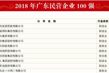 2018年广东民营企业100强排行榜