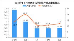 2018年6月合肥市化学纤维产量为0.59万吨 同比增长12%