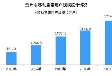 2017年贵州省移动宽带和移动互联网用户情况分析:移动宽带用户结构加速向4G迁移