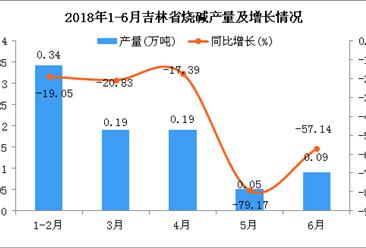 2018年6月吉林省烧碱产量为0.09万吨 同比下降57.14%