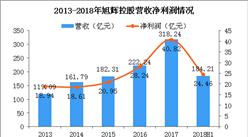 2018年旭辉控股半年报分析:营收184.21亿 同比增长64%(图)