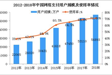 2018上半年中国网络支付用户数据分析:占整体网民比例超七成(图)