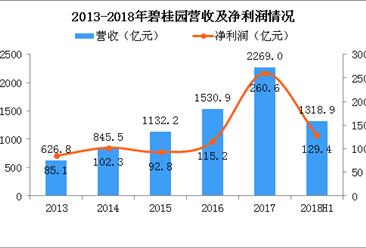 2018年碧桂园半年报分析:营收同比增长约69.7%(图)