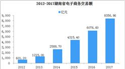 湖南省电子商务发展分析:2017年网络零售额同比增长40.78%