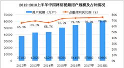 """国家网信办依法约谈""""快视频"""" 2018上半年中国网络视频用户规模超6亿人(图)"""