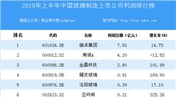 2018上半年中国玻璃制造上市公司利润排行榜