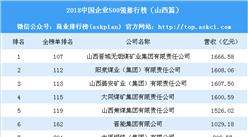 2018中國企業500強排行榜(山西篇)