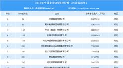 2018年中国企业500强榜单河北省上榜情况:河钢集团第一(附排名)