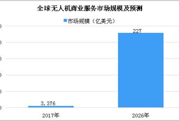 2026年全球无人机商业服务将超200亿美元 市场前景广阔(图)
