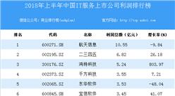 2018上半年中国IT服务上市公司利润排行榜