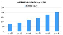 2018年中国智能安防行业市场发展现状分析:视频监控市场占比最大(图)