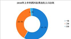 """2018年上半年四川出生人口减少1747人 """"全面二孩""""政策效果放缓(图)"""