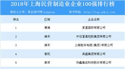 2018年上海民營制造業企業100強排行榜