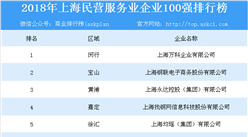 2018年上海民营服务业企业100强排行榜
