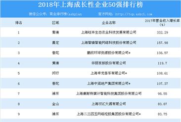 2018年上海成长性企业50强排行榜