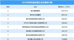 2018贵州省民营企业百强榜单发布:通源集团/宏立城集团/信邦制药前三(附排名)