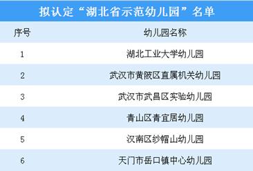 最新湖北省级示范幼儿园公示名单出炉!附完整幼儿园名单一览(表)