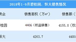 2018年9月碧桂园销售简报:累计销售金额4156亿(附图表)