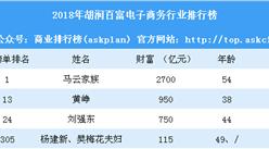 2018年胡润百富电子商务行业排行榜(附全榜单)