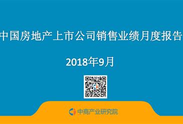 2018年9月永利国际娱乐房地产行业经济运行月度报告(完整版)