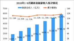 2018年1-9月湖南省旅游业发展数据分析:旅游总收入增长11.72%(附图表)