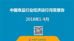 2018年1-9月中國食品行業經濟運行月度報告(附全文)