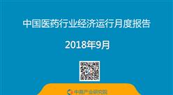 2018年9月中国医药行业梦之城娱乐下载地址运行月度报告(全文)