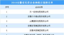 2018年安徽省民营企业纳税百强榜名单出炉(附完整榜单)