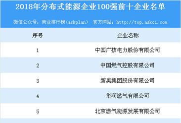 2018年分布式能源企业100强榜单出炉:中国广核电力位列榜首(附排名)