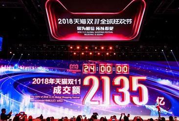 """2018""""双十一""""全网销售额3143亿元 金融基础设施助力""""双十一"""""""