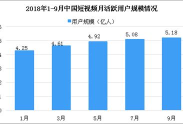 2018年10月中国短视频市场数据分析:快手用户数位居榜首(图)