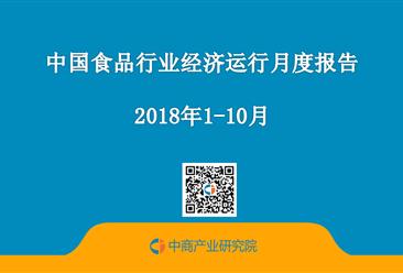 2018年1-10月中国食品行业经济运行月度报告(附全文)