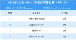 2018年11月Android手机好评排行榜